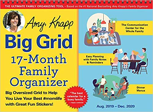 Amy Knapp's Big Grid Family Organizer Calendar Aug 2019-Dec 2020