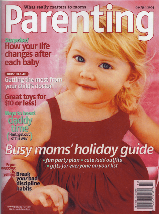 Parenting Dec Jan 2005 magazine cover