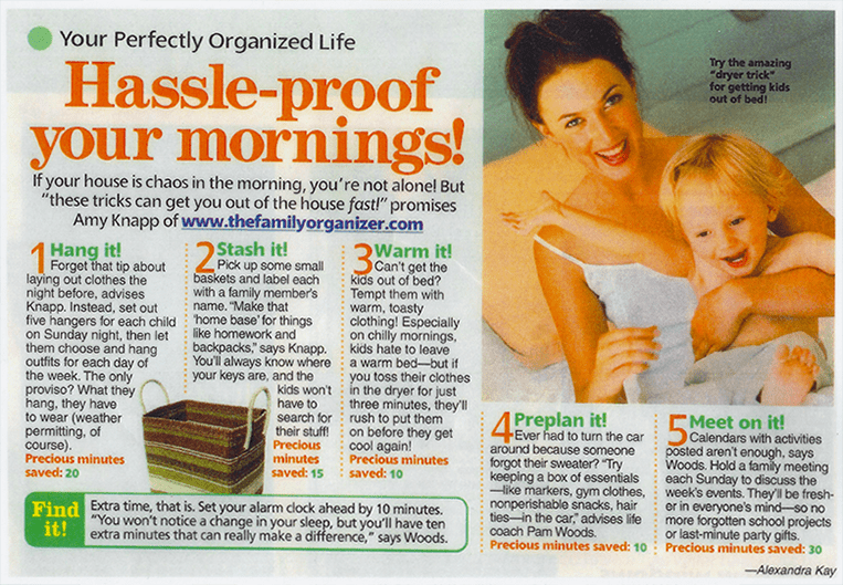 Womans' World Hassle-proof your mornings.