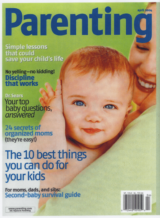 Parenting April 2004 magazine cover.