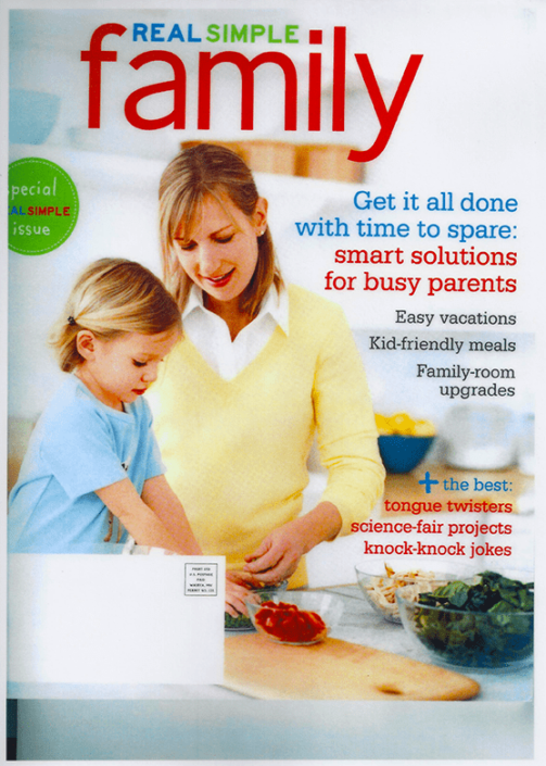 Real Simple Family article on Family Organizer.