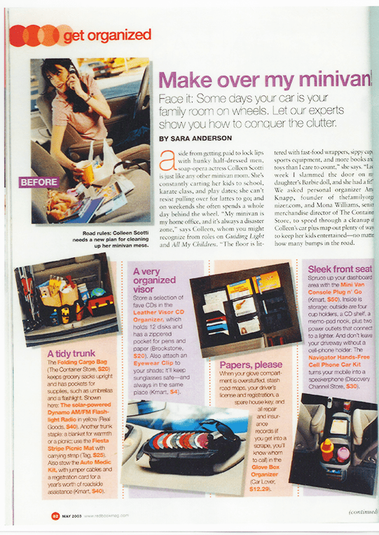 Redbook Get organized article featured Amy as expert.