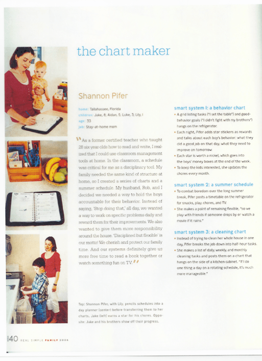 The Chart Maker article highlighting Family Organizer.