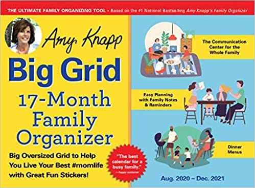 Amy Knapp's Big Grid 17-Month Family Organizer Aug 2020- Dec 2021