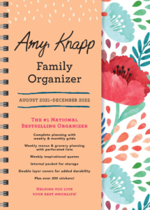 Amy Knapp Family Organizer August 2021 to December 2022 front cover