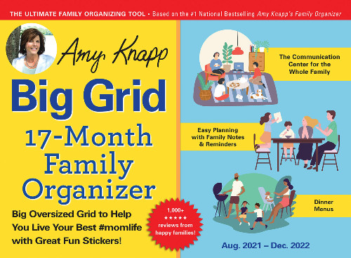 Amy Knapp Big Grid 17-month Family Organizer for 2021-22